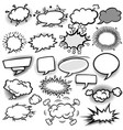 set of empty comic bubbles vector image