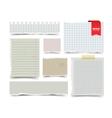 Set of old vintage notepaper sheets vector image vector image