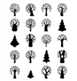 set of tree symbols vector image