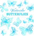 set of watercolor butterflies vector image vector image