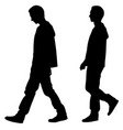 silhouettes of people walking vector image vector image