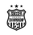 soccer logo template design vector image vector image