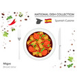 spanish cuisine european national dish collection vector image vector image