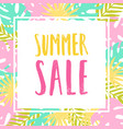 summer sale flyer vector image vector image