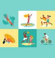 summer sport design concept vector image vector image