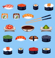 sushi food traditional asia japan meal vector image vector image