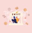 swift society worldwide interbank financial vector image vector image
