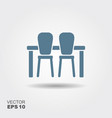 table and chairs icon vector image
