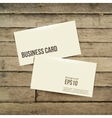 template white Business card on the wooden table vector image vector image