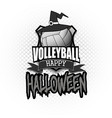 volleyball ball with witch hat and happy hallowen vector image vector image