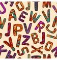 Zentangle Alphabet Seamless Pattern vector image vector image
