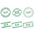 zip stamps vector image vector image
