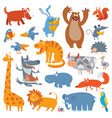 cute zoo animals vector image
