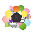 geometric multicolor background with place for vector image