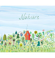Nature background with trees and grass for tourism vector image