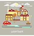 Small town landscape vector image