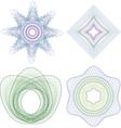 Guilloche elenent for certificate vector image