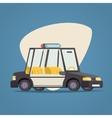 Retro Cartoon Car Police Icon Modern Design vector image
