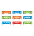 sale ribbon icon discount sticker label set on vector image