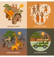 Africa Concept Icons Set vector image vector image