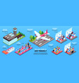 airplane isometric infographics vector image vector image