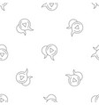 audio chat bubble pattern seamless vector image