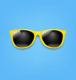 banner sunglasses and blue background vector image vector image
