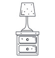 bedroom lamp in drawer isolated icon vector image vector image