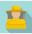 beekeeper man icon flat style vector image vector image