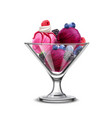 berry ice cream composition vector image vector image