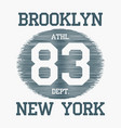 brooklyn new york city typography for design vector image vector image