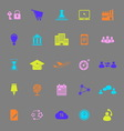 Business connection color icons on gray background vector image vector image