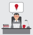 business man have an idea for startup with eureka vector image vector image