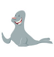 cartoon seal funny animal character vector image vector image