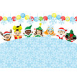 cheerful children in festive costumes vector image