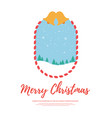 christmas banner background with snow mountain vector image