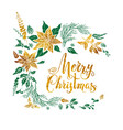 christmas green and gold design vector image