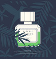 classic retro bottle of perfume on a tropical vector image vector image