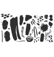 collection black paint ink brush vector image vector image