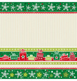 color christmas card with gifts vector image