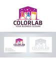 color lab logo vector image vector image