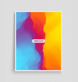 cover design template abstract background modern vector image vector image