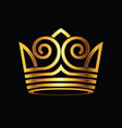 crown modern gold logo vector image vector image