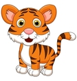Cute baby tiger cartoon vector image