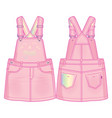 cute overall dress vector image vector image