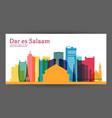 dar es salaam colorful architecture vector image vector image