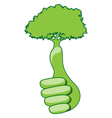 Eco hand vector image