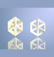 escher style isomeric figures vector image vector image