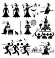 evil witch hunt witchcraft black magic stick vector image