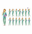 female student - cartoon people character vector image vector image